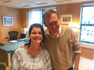 Lisa met minister Bruins